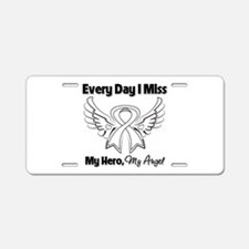 Lung Cancer Miss My Hero Aluminum License Plate