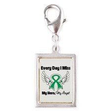 Liver Cancer Miss My Hero Silver Portrait Charm
