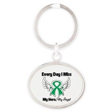 Liver Cancer Miss My Hero Oval Keychain
