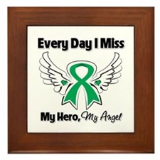 Liver Cancer Miss My Hero Framed Tile