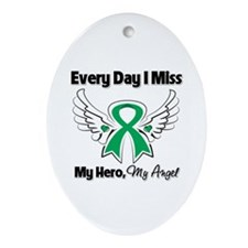 Liver Cancer Miss My Hero Ornament (Oval)