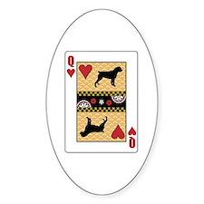 Queen Rottweiler Oval Decal
