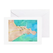 koroni city map Greeting Cards