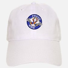 Proud Mom 3 Blue Autism Baseball Baseball Cap
