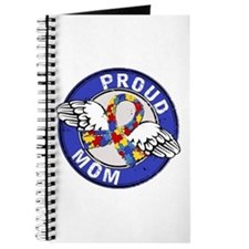 Proud Mom 3 Blue Autism Journal