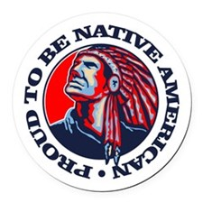 Proud Native American Round Car Magnet
