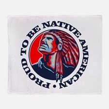Proud Native American Throw Blanket