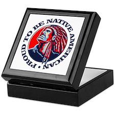 Proud Native American Keepsake Box