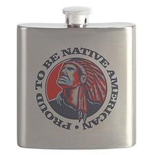 Proud Native American Flask