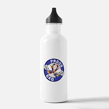 Proud Dad 3 Blue Autis Water Bottle