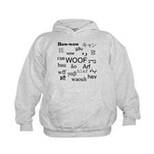 Woof in Different Languages Hoodie