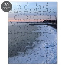 snow on the bay Puzzle