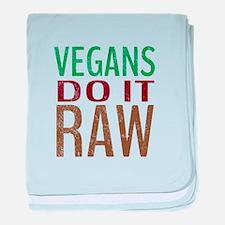 Vegans Do It Raw baby blanket