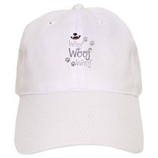 Woof Woof dogs doggy bark with doggy paws Baseball Cap
