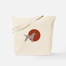 Dog On Orange Tote Bag