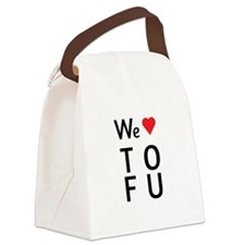 We Love ToFu Canvas Lunch Bag