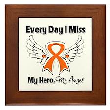 Kidney Cancer Miss My Hero Framed Tile