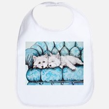 Westie Couch Potatoes Bib