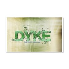 dyke_carflag Car Magnet 20 x 12