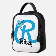 Personalized Initial R Monogram Neoprene Lunch Bag