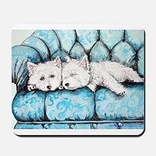 Westie Couch Potatoes Mousepad