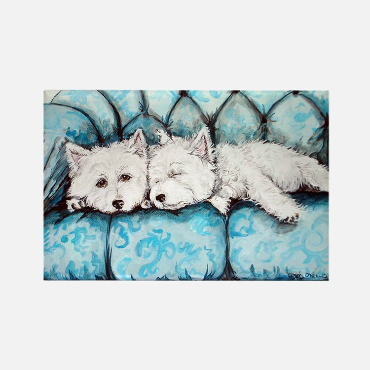 Westie Couch Potatoes Rectangle Magnet (100 pack)