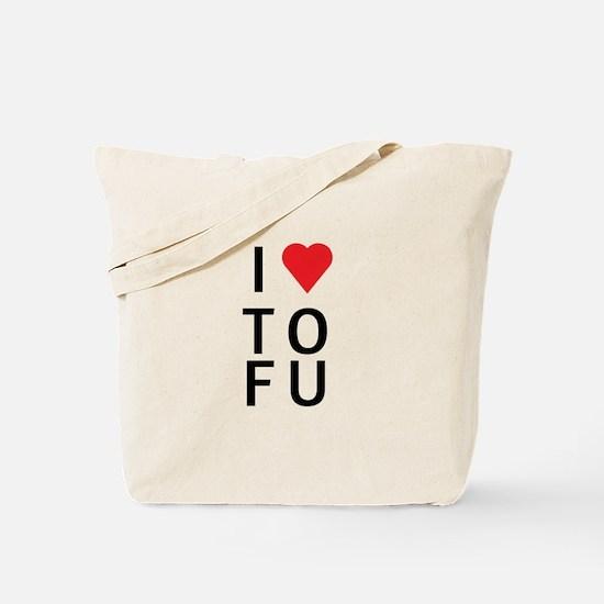 I Love ToFu Tote Bag