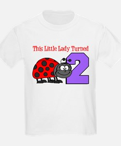 Little Lady Turned Two T-Shirt