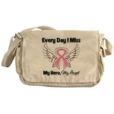 Breast Cancer Miss My Hero Messenger Bag