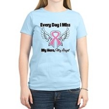 Breast Cancer Miss My Hero T-Shirt