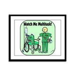 Nurse Multitask Framed Panel Print