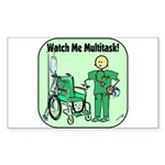 Nurse Multitask Rectangle Sticker