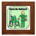 Nurse Multitask Framed Tile