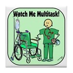 Nurse Multitask Tile Coaster