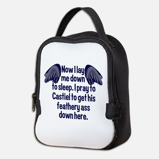 Prayer for Castiel Neoprene Lunch Bag