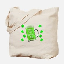 Shamrocks & Green Ale St. Patrick's Day Tote Bag