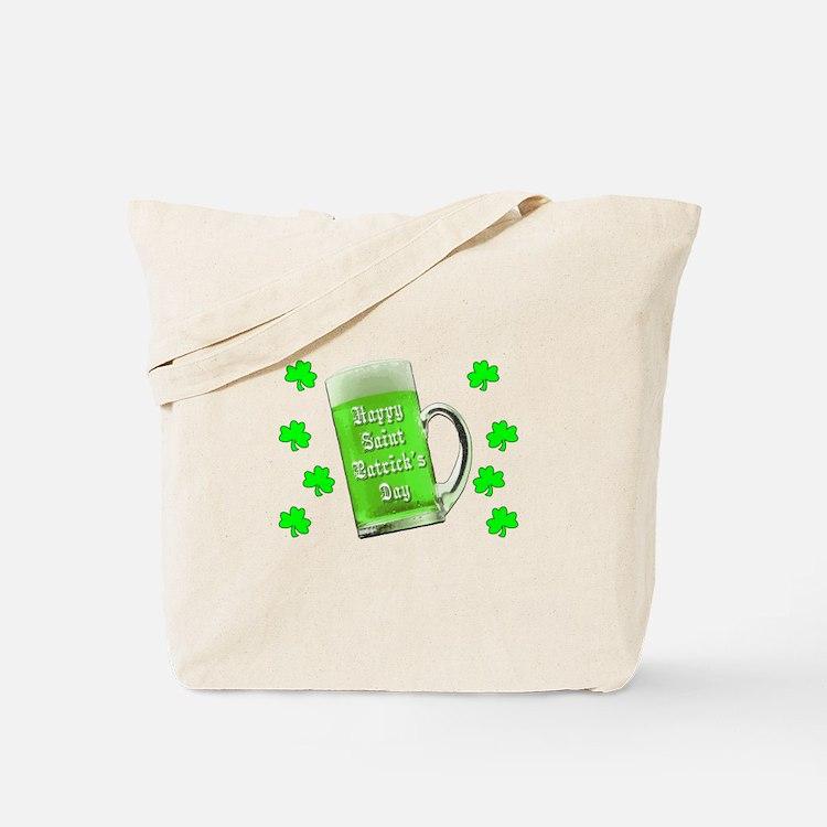 Shamrocks & Green Ale St. Patrick's Day Tote Bag