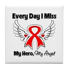 Blood Cancer Miss My Hero Tile Coaster