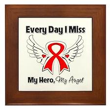 Blood Cancer Miss My Hero Framed Tile