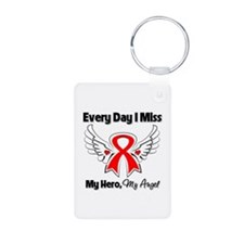 Blood Cancer Miss My Hero Aluminum Photo Keychain
