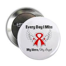 "Blood Cancer Miss My Hero 2.25"" Button"