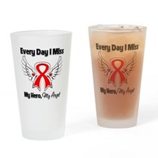 Blood Cancer Miss My Hero Drinking Glass