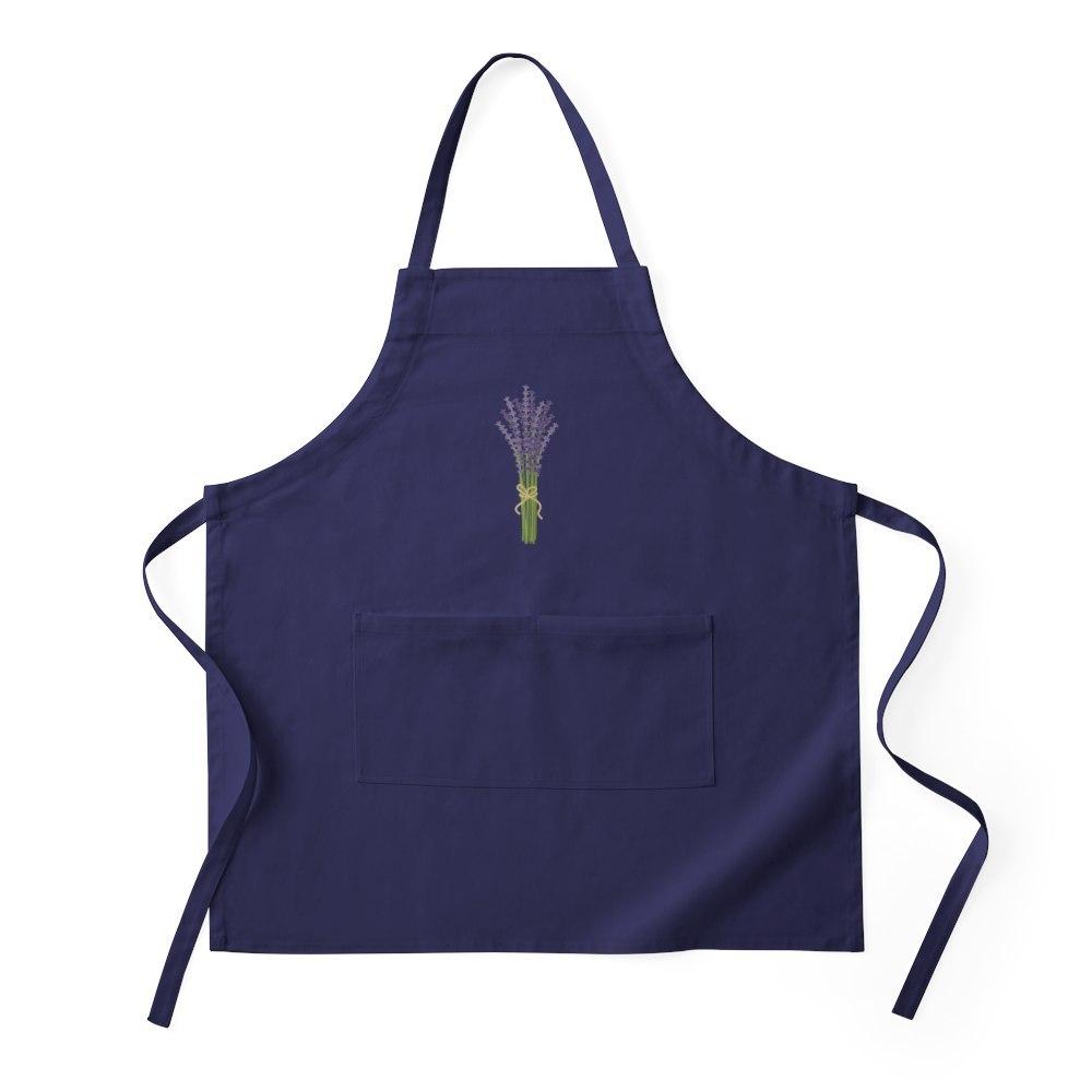 CafePress Bushel of Lavender Apron (dark)