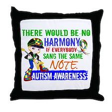 No Harmony 1.2 Autism (Boy) Throw Pillow