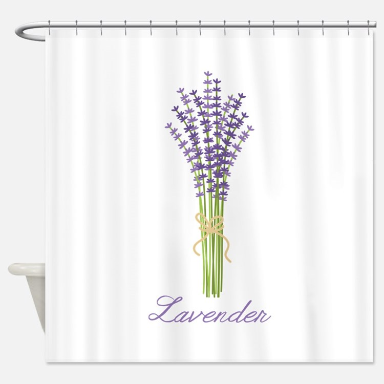 Lavender Floral Shower Curtains | Lavender Floral Fabric ... Lavender Shower Curtains