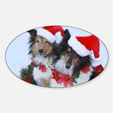 Christmas Santa Shelties Decal