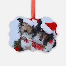 Christmas Santa Shelties Ornament