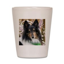 Tricolor Shetland Sheepdog Shot Glass