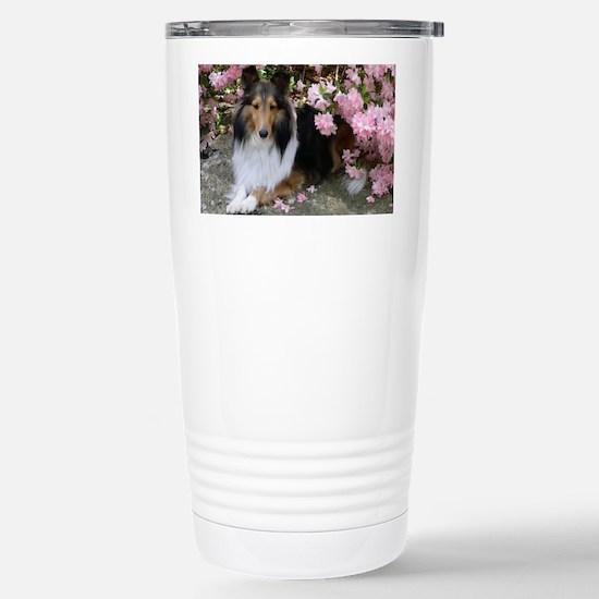 Shetland Sheepdog in th Stainless Steel Travel Mug