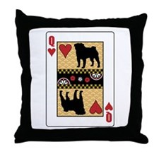 Queen Pug Throw Pillow